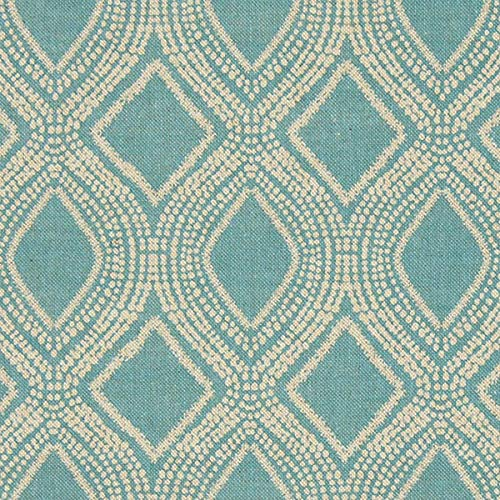 Fabulous Fabrics Dekostoff Halbpanama Ornamente 1 – mintgrün — Meterware ab 0,5m — Oeko-Tex Standard 100 Produktklasse I — zum Nähen von Kissen, Vorhänge und Stühle