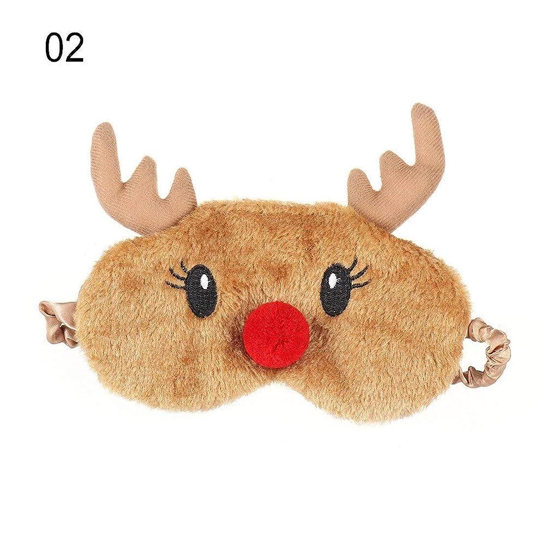 ラショナル降下弱いNOTE かわいいクリスマスプレゼント鹿アイカバーぬいぐるみ布ナチュラルスリーピングソフトアイマスクアイパッチ冬漫画昼寝アイシェード