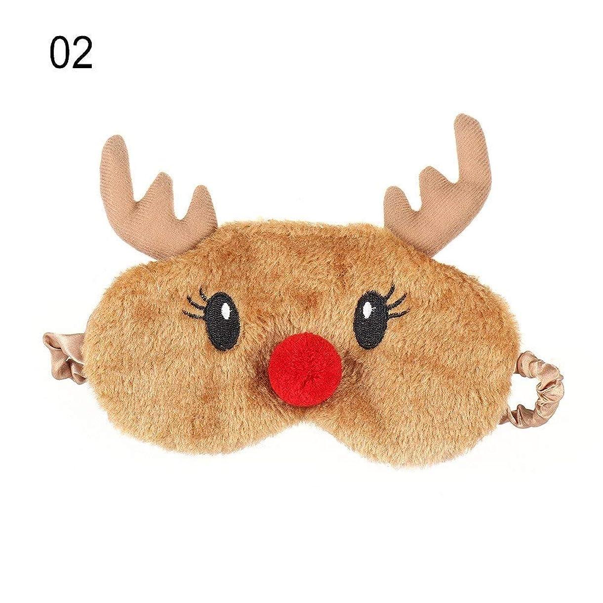 アテンダント砦重量NOTE かわいいクリスマスプレゼント漫画鹿アイカバーぬいぐるみ布睡眠マスクナチュラル睡眠アイマスクアイシェードかわいいアイシェード
