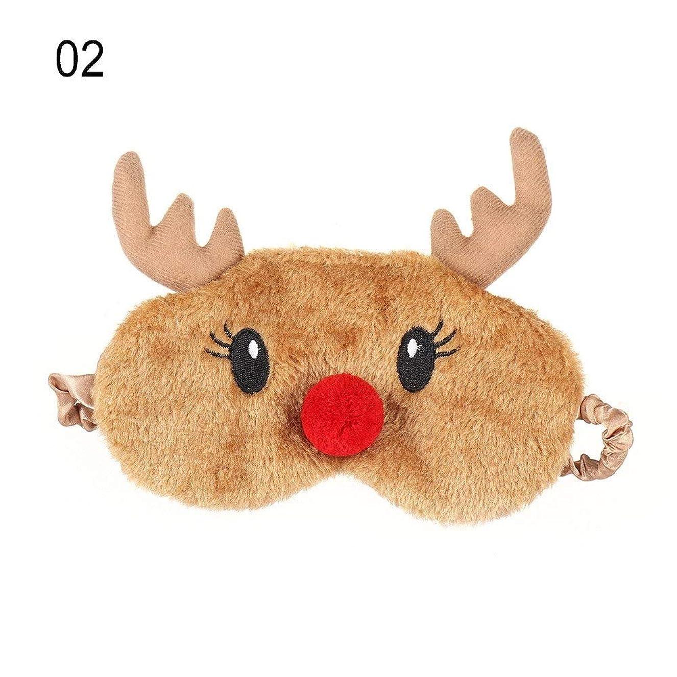 避けられない驚微妙NOTE かわいいクリスマスプレゼント鹿アイカバーぬいぐるみ布ナチュラルスリーピングソフトアイマスクアイパッチ冬漫画昼寝アイシェード
