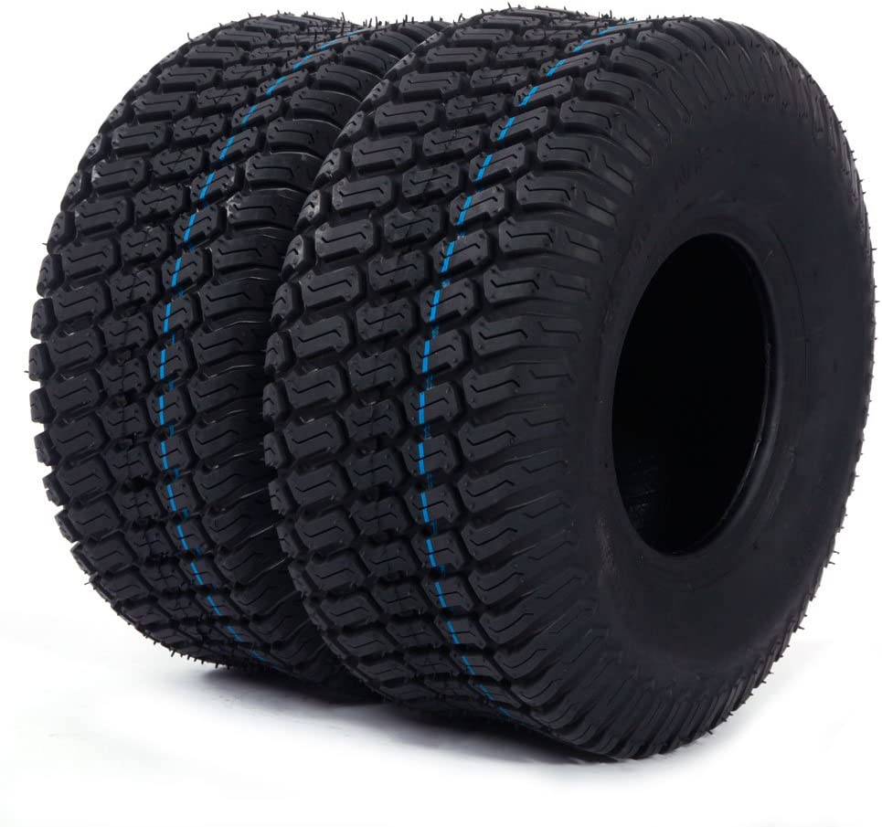 SUNROAD 2pc Lawn Mower Tractor Turf Product Ma Cart 15x6.00-6 Fashion Tires