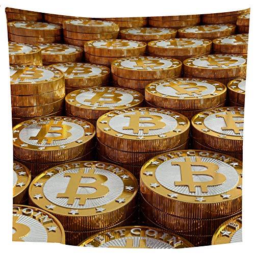 MRQXDP kunst beeld gouden munt foto muur opknoping muur decoratie yoga mat strand handdoek deken sjaal