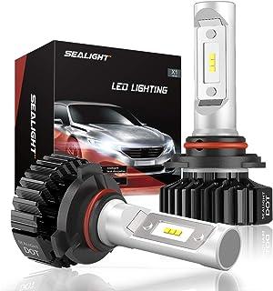 SEALIGHT 9006 LED Headlight Bulbs HB4 Low Beam/Fog Light Bulb, DOT Approved, Super Bright 6000K Cool White Upgraded 12x CSP Chips (Pack of 2)