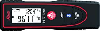 Leica DISTO E7100i 200ft Laser Distance Measure with Bluetooth, Black/Red