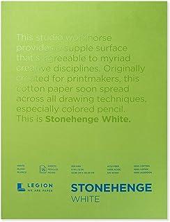 Legion Stonehenge Pad, 9 X 12 inches, White, 15 Sheets