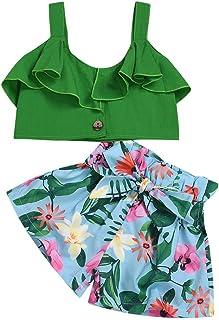 CYICis Kleinkind Baby m/ädchen Kleidung Set Shorts /& Tops Outfits 3 st/ück Sommer l/ässig floral sch/öne
