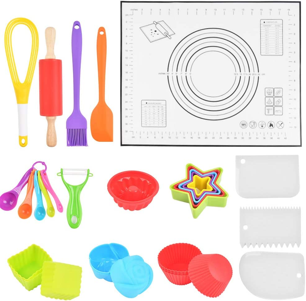 WOWOSS Kids Cooking Industry No. 1 5 ☆ very popular and Baking Set Combo Kit 33 Non Pcs Kitchen