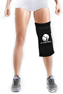 Extra Large Ice Pack With Wrap - Reusable Hot Cold Therapy for Knee Hip Back Legs Shoulder- Pain Relief for Surgery Injuries Swelling Aches Bruises Sprains (Black 15.5