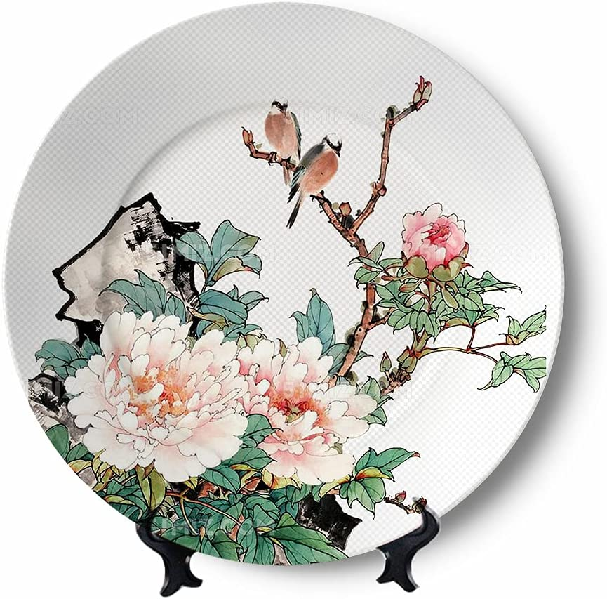 Flowers and butterflies Decorative shopping Plate Ceramic for List price Wall