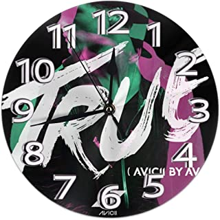 壁時計 Avicii True 円形掛け時計 静音 連続秒針 ウォールクロックノンフレーム 寝室 店舗 家 部屋装飾 簡単 シンプル おしゃれ 贈り物, 直径25cm