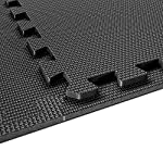 Interlocking Soft Foam Floor Mats - 18 Pieces EVA Puzzle Rubber Tiles Protective Flooring Set - Ground Protector, Surface Protection | Large Underlay Matting - Sports Pool Gym Fitness Basement Garage (Foam Floor Mats black) 11