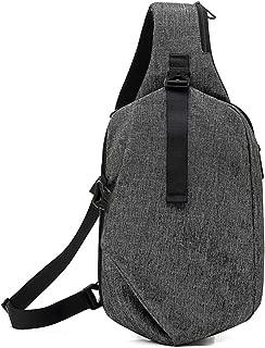Men's Casual Chest Bag, Travel Sports Crossbody Bag, Black Waterproof Shoulder Bag,Gray