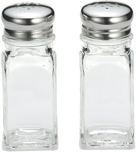 wholesale TableCraft outlet online sale 154S&P-1 2021 Glass 2 Oz. Salt/Pepper Shakers - Dozen sale