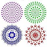 Demason Mandala Plantilla, Plantillas de dibujo, para Hacer Artesanía, Manualidades con Papel, en...