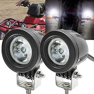 Motorcycle LED Fog Lights,20W Spot Driving Lights Round Cree LED Offroad Motorcycle Bike Lights for Truck Car ATV UTV SUV Jeep Boat
