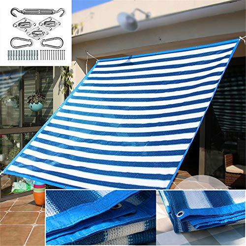 Versleutelen Balkon Isolatie Gardening Sunblock Shade Net Strepen met RVS Kit, 95% Shading Het tarief voor Patio Garden Outdoor Facility,2 * 3M