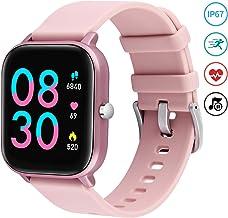 Fullmosa Smartwatch Mujer,Relojes Inteligentes Mujer Rosa para Android e iOS,Pulsera Actividad Inteligente Impermeable IP68,Smartwatch Hombre con Pulsómetro Cronómetros para Xiaomi