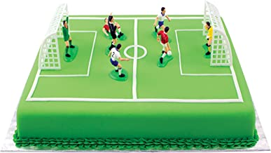 PME Cake and Cupcakes, Set of 9 Soccer Toppers, Standard, Multicolor