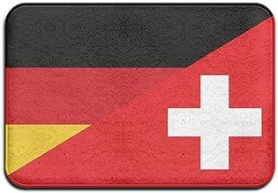 Flag Of Germany And Switzerland Doormats Anti-slip House Garden Gate Carpet Door Mat Floor Pads