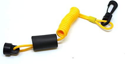 JSP Brand Non-DESS Yellow Floating Safety Lanyard/Ignition Cap Key Stop Switch 278001431 Replaces Sea-Doo XP GTS GTS SP SPX