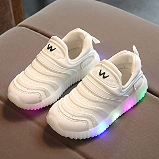 Sunward 1-6 Years Toddler Infant Baby Girls Boys Breathable LED Luminous Sport Shoes Sneakers