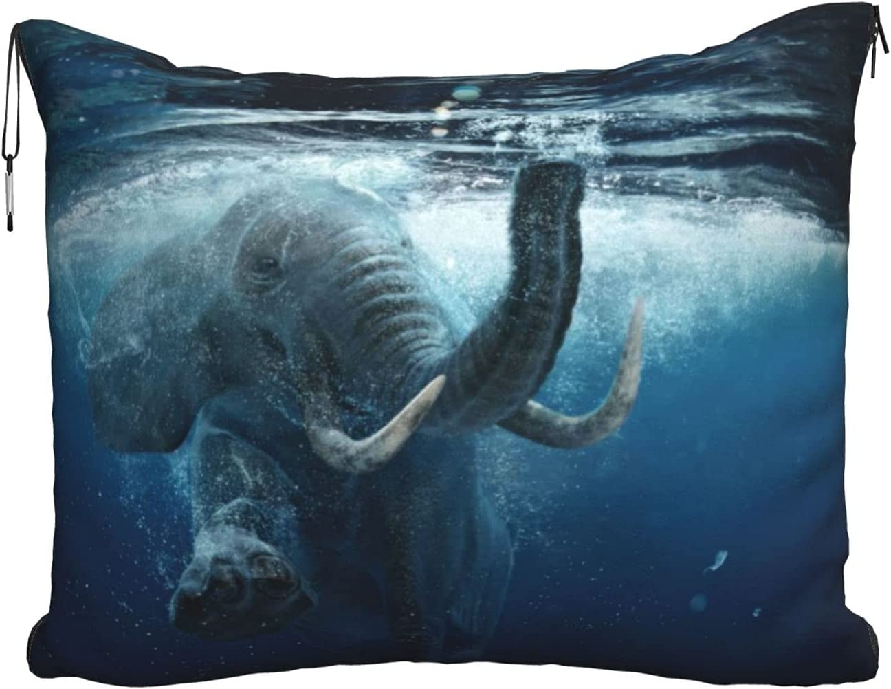 Ranking TOP11 Swimming African Elephant Underwater Travel Blanket Pill Cheap bargain Printed