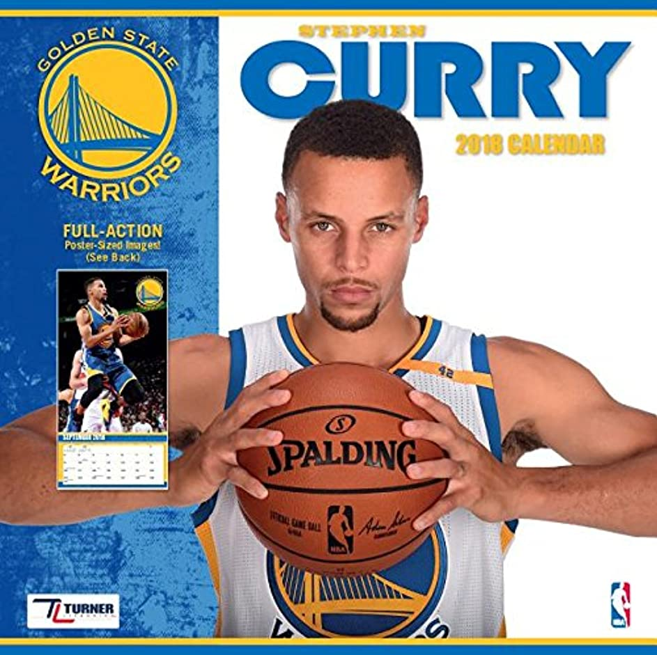 発掘する酒大邸宅Golden State Warriors Stephen Curry 2018 Calendar