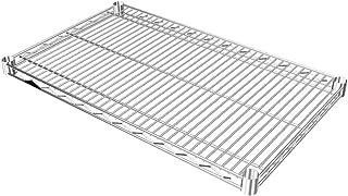 ルミナス ポール径25mm用パーツ 棚板 スチールシェルフ(耐荷重250kg)ワイヤー奥行方向 1枚(スリーブ無し) 幅76×奥行46cm SR7645