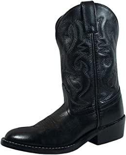 Smoky Children's Kid's Black Leather Western Cowboy Boot