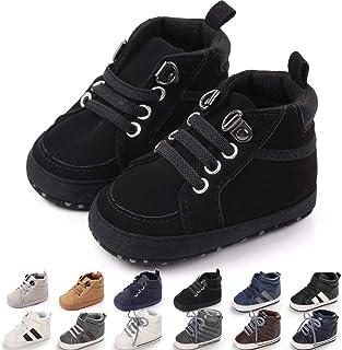 KaKaKiKi Infant Baby Boys Girls High Top Canvas Sneakers Rubber Sole Soft Anti Slip Toddler Ankle Boots Prewalker Shoes Ne...