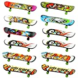 INTVN Finger Skateboard Set - 12PCS Fingerboard,Mini Skateboard Finger Für Kinder Geburtstage, Geschenke(Zufällige Farbe) -