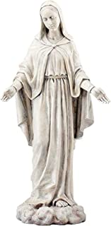Joseph`s Studio by Roman - Our Lady of Grace Statue, 24H, Garden Collection, Resin and Stone, Decorative, Religious Gift, Home Outdoor and Indoor Decor, Durable, Long Lasting