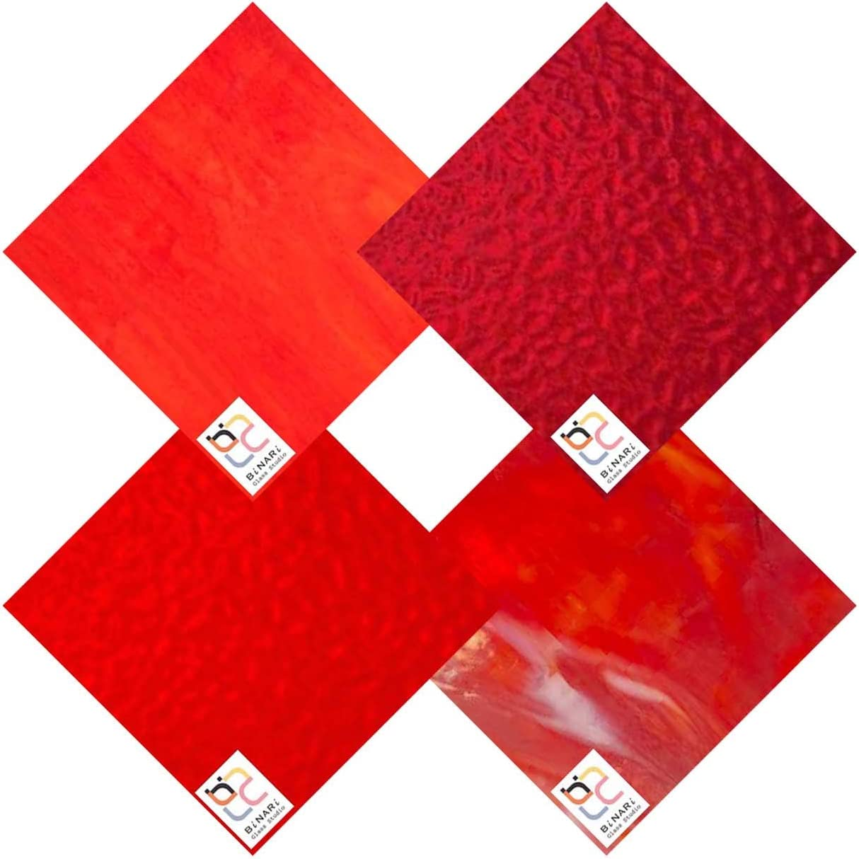 Wissmach 4 Sheet Mixed Color Variety Pack Glass specialty shop All items free shipping 8 Stained RED