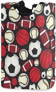 N\A Panier à Linge, balles de Sport Baseball Football paniers de Rangement de Linge vêtements Pliables Sac Organisateur de...