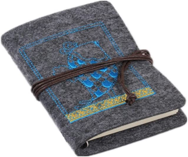 Wool Felt Cover Rural Travel Challenge the lowest price Journal Direct stock discount Diary Notebook-6