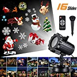 Solarmart Led Christmas Light Projector - 2017 Newest Version Bright Led Landscape Spotlight with 16 Slides Dynamic Lighting Landscape Led Projector Light Show for Halloween, Party, Holiday Decoration