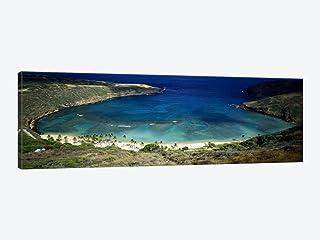 iCanvasART 1 Piece High Angle View of a coast, Hanauma Bay, Oahu, Honolulu County, Hawaii, USA Canvas Print by Panoramic I...