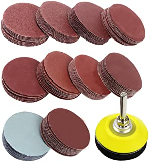 Coceca 2 Inches 100pcs Sanding Discs Pad Kit for Drill Grinder Rotary Tools with Backer..