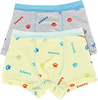 So Aromatherapy Boys Cotton Boxer Briefs Kids Ultra Soft Underwear Pack of 2