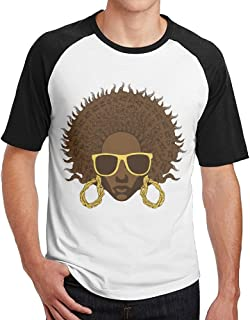 Diamonds Jun DiamondsJun Afro Cool Mens Baseball Short Sleeve Raglan Tshirt