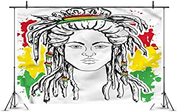 Rasta Photography Work Background Grunge Flag Colors Reggae Can be Used for Photographic Video,Size:10x20 ft