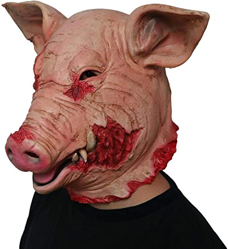 Circlefly HalFaibleeen Horror Cochon Masque Bal costumé Animaux Masque Masque Adulte hotte