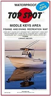 Top Spot N208 Map- Middle Key Long Key To Boca Chica Key LORAN-C & GPS