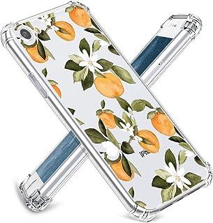 JOYLAND iPhone SE(2020)/8/7 ケース ソフトTPU クリア 耐衝撃 衝撃吸収 軽量 薄型 透明 全面保護 アイフォン8カバー レンズ保護 滑り止め ストラップホール付き オレンジ