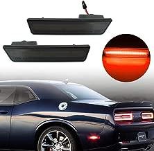 KE-KE A Set of 2PCS 3D Smoked Lens Amber 24-SMD LED Rear Bumper Side Marker Lights Lamps Replacement Kit For 2008-2014 Dodge Challenger (Smoked Lens red(Rear))