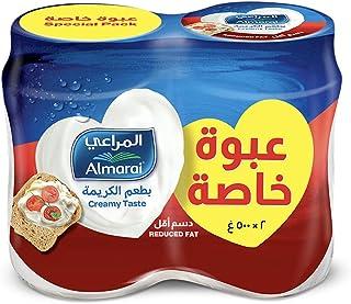 Almarai Low Cholesterol Spreadable Cream Cheese Jar, 2 x 500 g