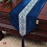 Qinqin666 Tischläufer Sinn für Mode der luxuriösen minimalistischen Stil Tisch Läufer Tischfahne Fahne 2# 33x150cm
