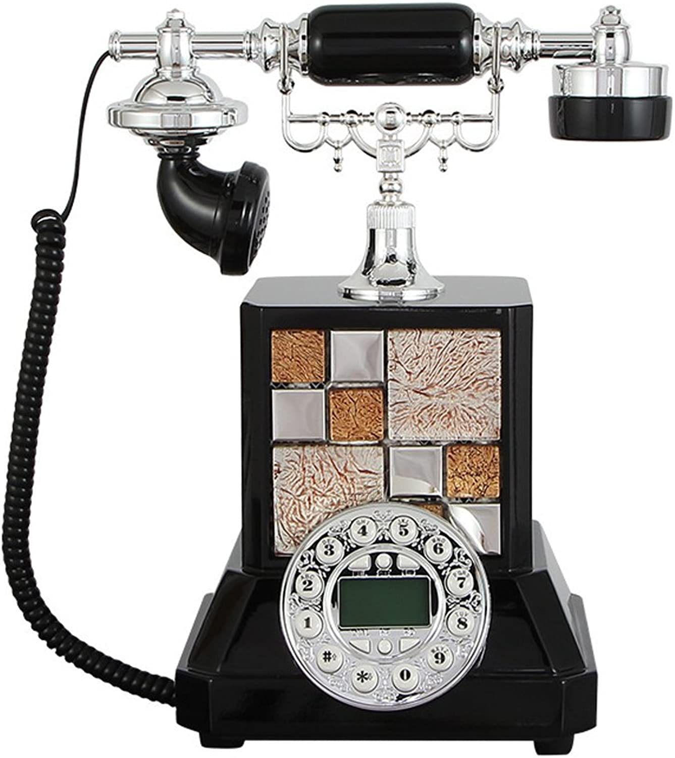 Vintage Phone  Fashioned European Retro Personality Phone Caller Id Function Environmental Predection Polyester Antique Fixed Telephone