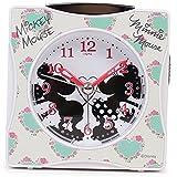 Disney 目覚まし時計 ミッキーマウス & ミニーマウス アナログ表示 ホワイト DIA-5547-13MM