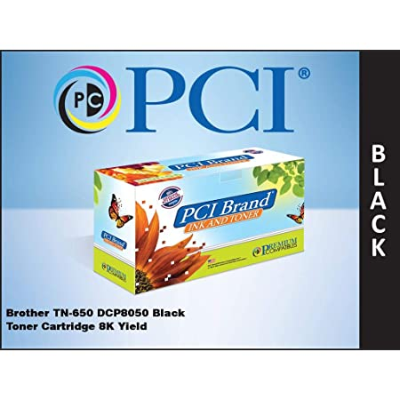 PCI Brand Compatible Toner Cartridge Replacement for Brother TN650 Black Toner Cartridge 8K Yield